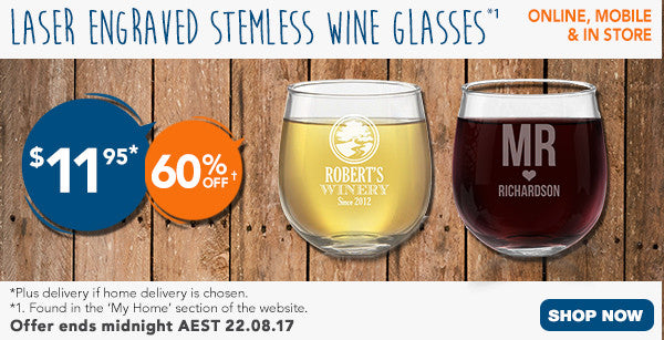 Father's Day Stemless Wine Glasses