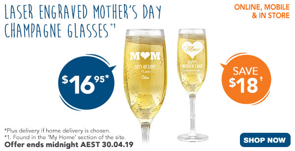Mother's Day Champagne Glasses