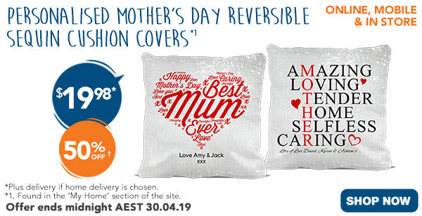 Mother's Day Reversible Sequin Cushion Covers