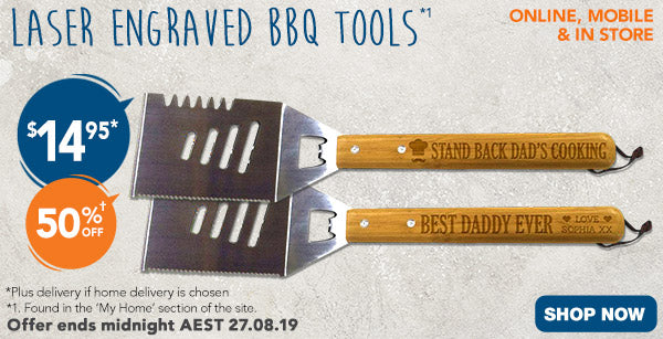 Engraved BBQ Tool - $14.95 (50% off)