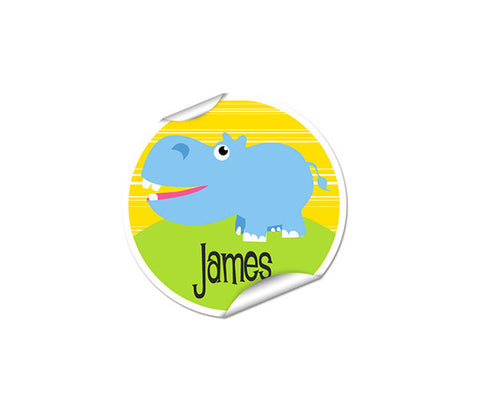 Hippo 48pk Labels - Round