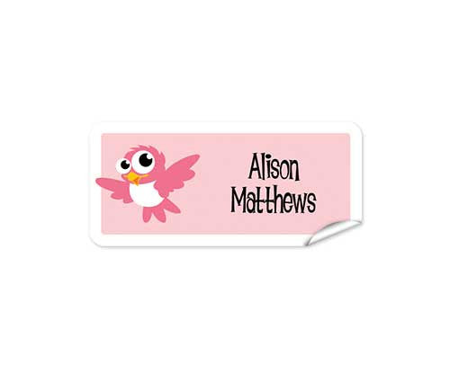 Cute Bird 48pk Labels - Rectangle