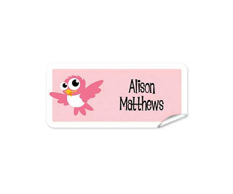 Cute Bird 42pk Labels - Rectangle