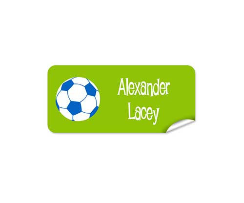 Soccer Ball 42pk Labels - Rectangle