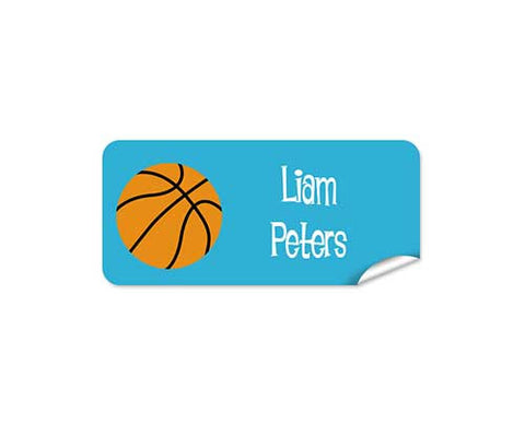 Basketball 42pk Labels - Rectangle