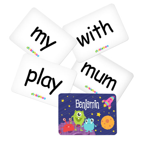 Space Memory Game Sight Words Pack 2