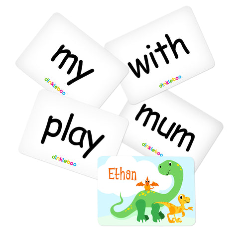 Dino Memory Game Sight Words Pack 2