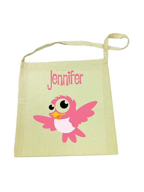 Library Bag - Pink Bird