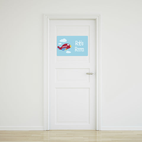 Plane Large Door Sign