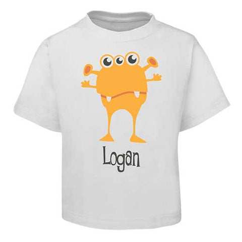 Orange Alien  Kids T-Shirt