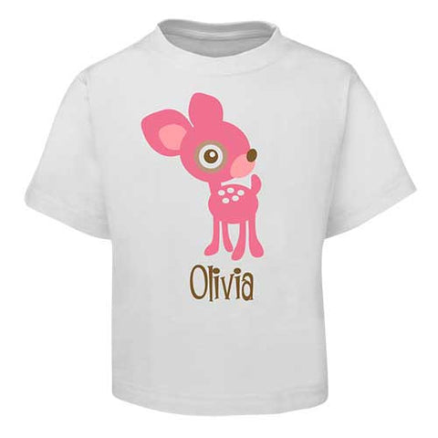 Pink Deer  Kids T-Shirt