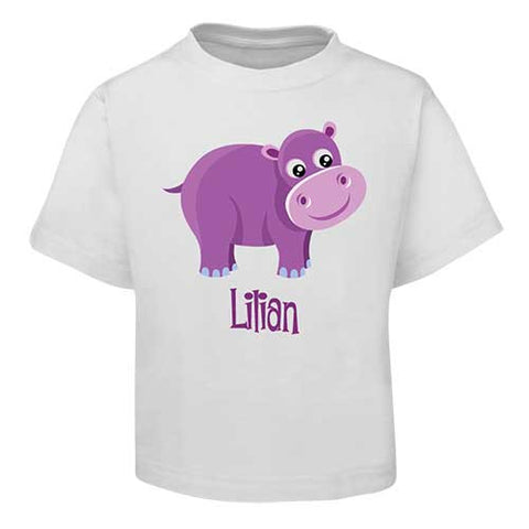 Purple Hippo Kids T-Shirt