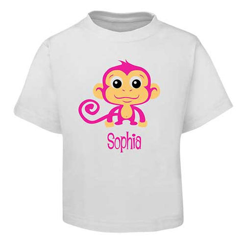 Pink Monkey Kids T-Shirt