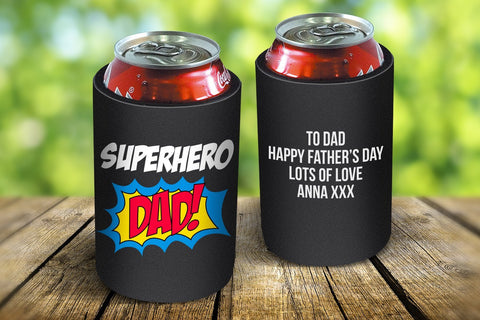 Superhero Dad Stubby Cooler