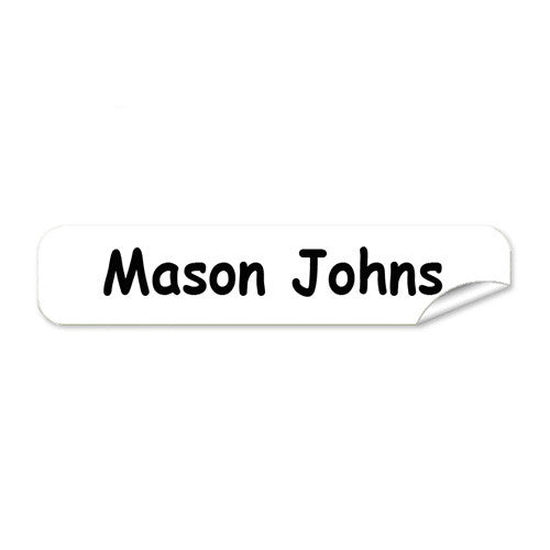 Mini Name Labels 78pk - White
