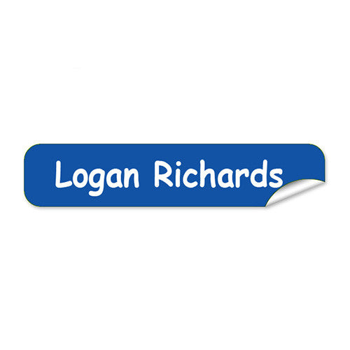 Mini Name Labels 78pk - Blue