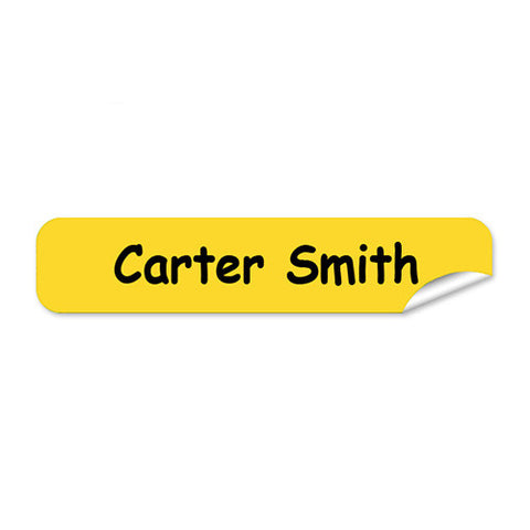 Mini Name Labels 76pk - Yellow