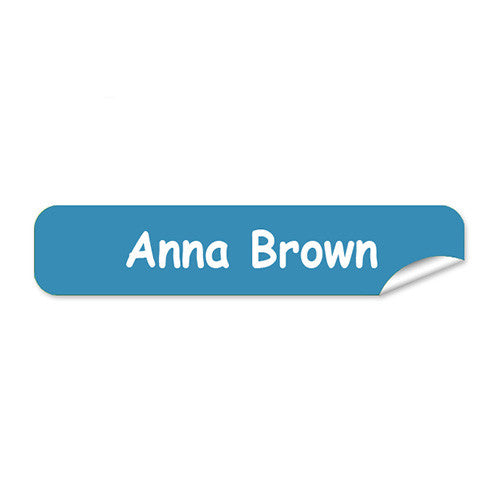 Mini Name Labels 72pk - Light Blue