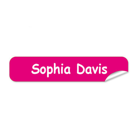 Mini Name Labels 76pk - Pink