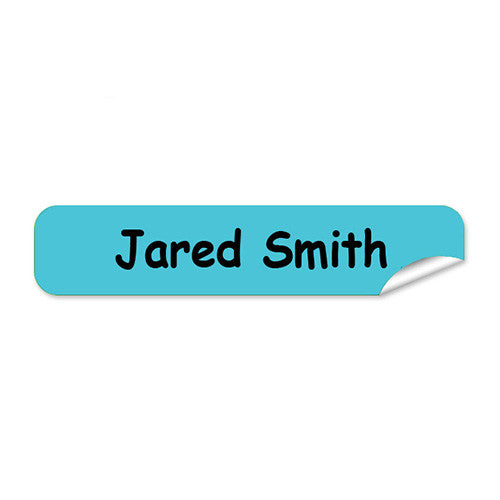 Mini Name Labels 76pk - Aqua