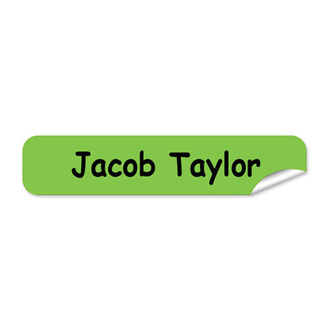 Mini Name Labels 76pk - Green