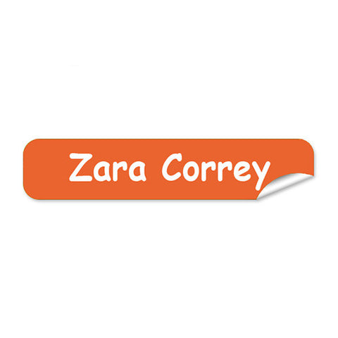 Mini Name Labels 76pk - Orange