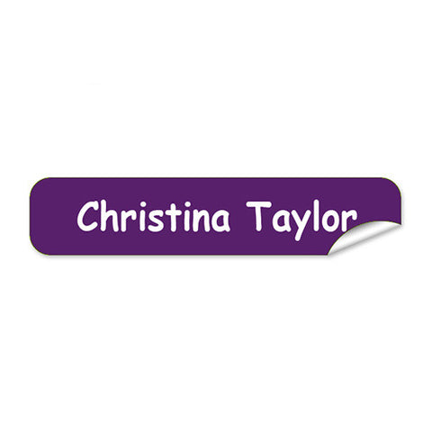 Mini Name Labels 76pk - Light Purple