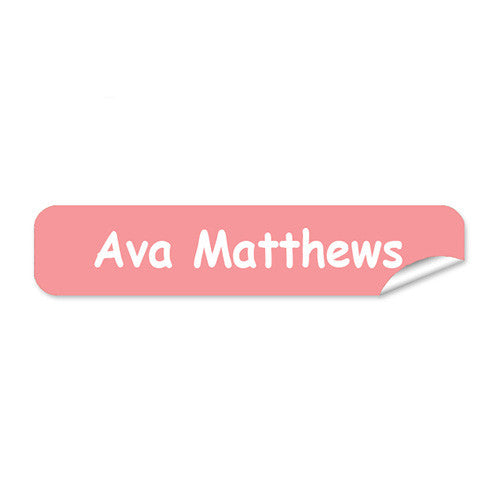 Mini Name Labels 76pk - Salmon