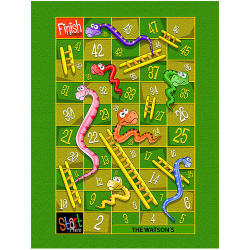 Small Snakes & Ladders Play Blanket