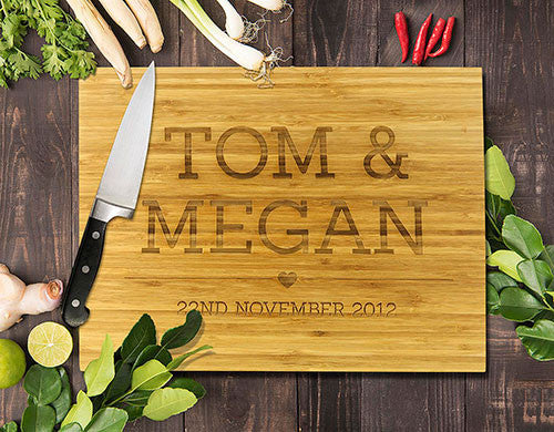 "All Caps Bamboo Cutting Boards 8x11"" (Temporary Out of Stock)"
