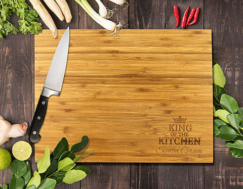 King Of The Kitchen Bamboo Cutting Boards 8x11""
