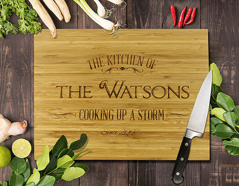 "Cooking Up A Storm 2 Bamboo Cutting Board 12x16"" (Temporary Out of Stock)"