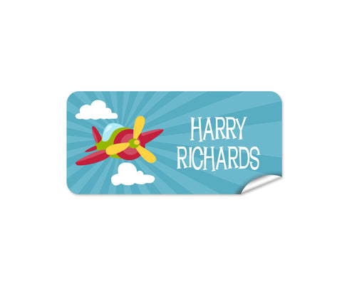 Aeroplane 48pk Labels - Rectangle