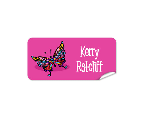 Butterfly 48pk Labels - Rectangle