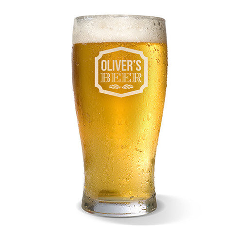 Sign Design Standard 285ml Beer Glass