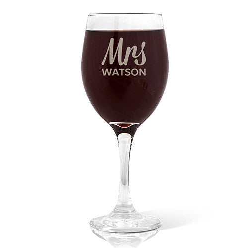 Mrs Design Wine 410ml Glass