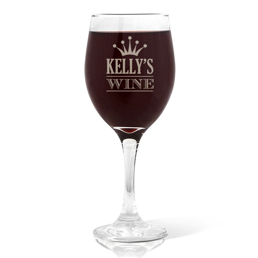 Crown Design Wine 410ml Glass