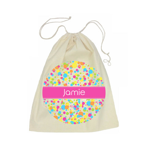 Calico Drawstring Bag - Bubbles