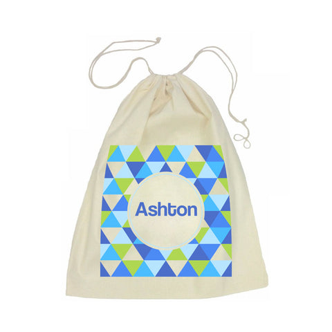 Calico Drawstring Bag - Geometric