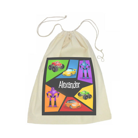 Calico Drawstring Bag - Machine