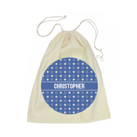Calico Drawstring Bag - Star