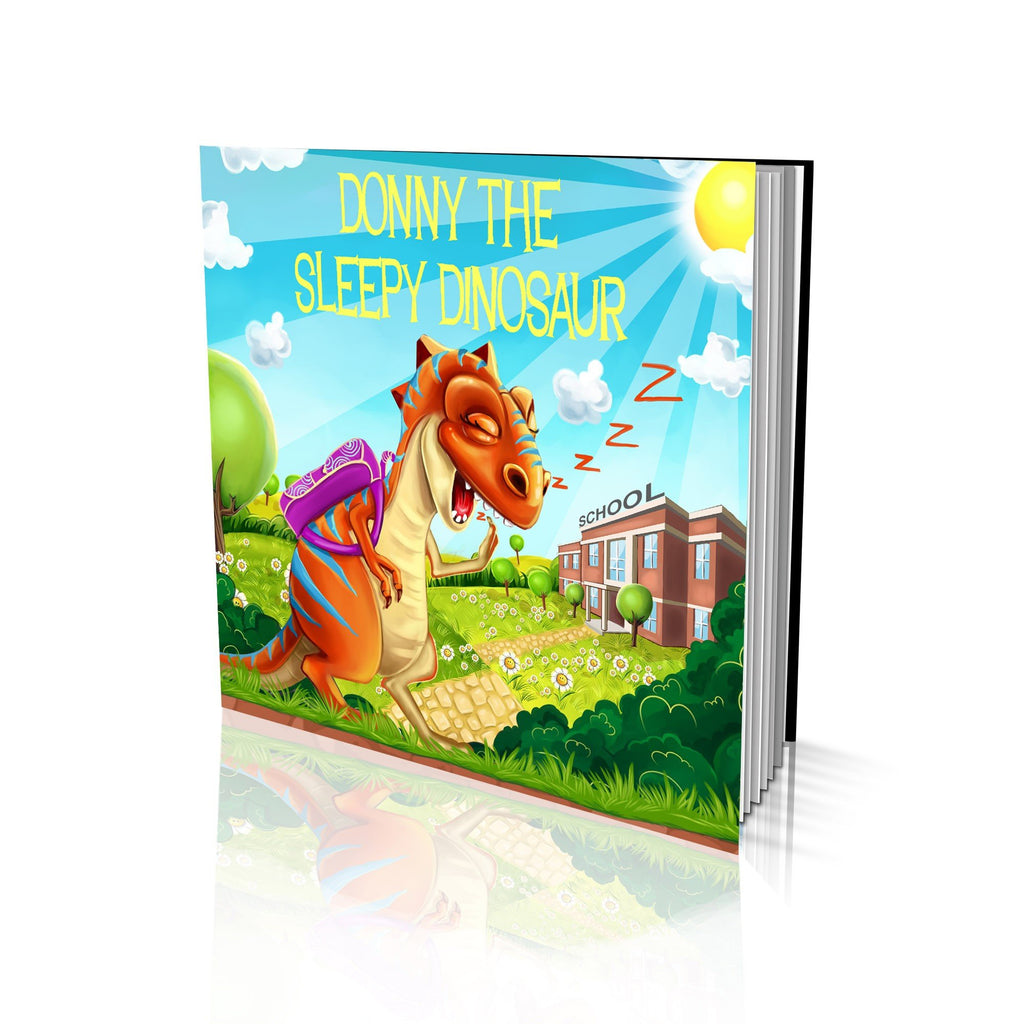 Large Soft Cover Story Book - The Sleeping Dinosaur