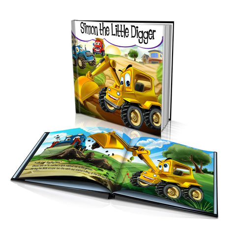 Large Hard Cover Story Book - The Little Digger