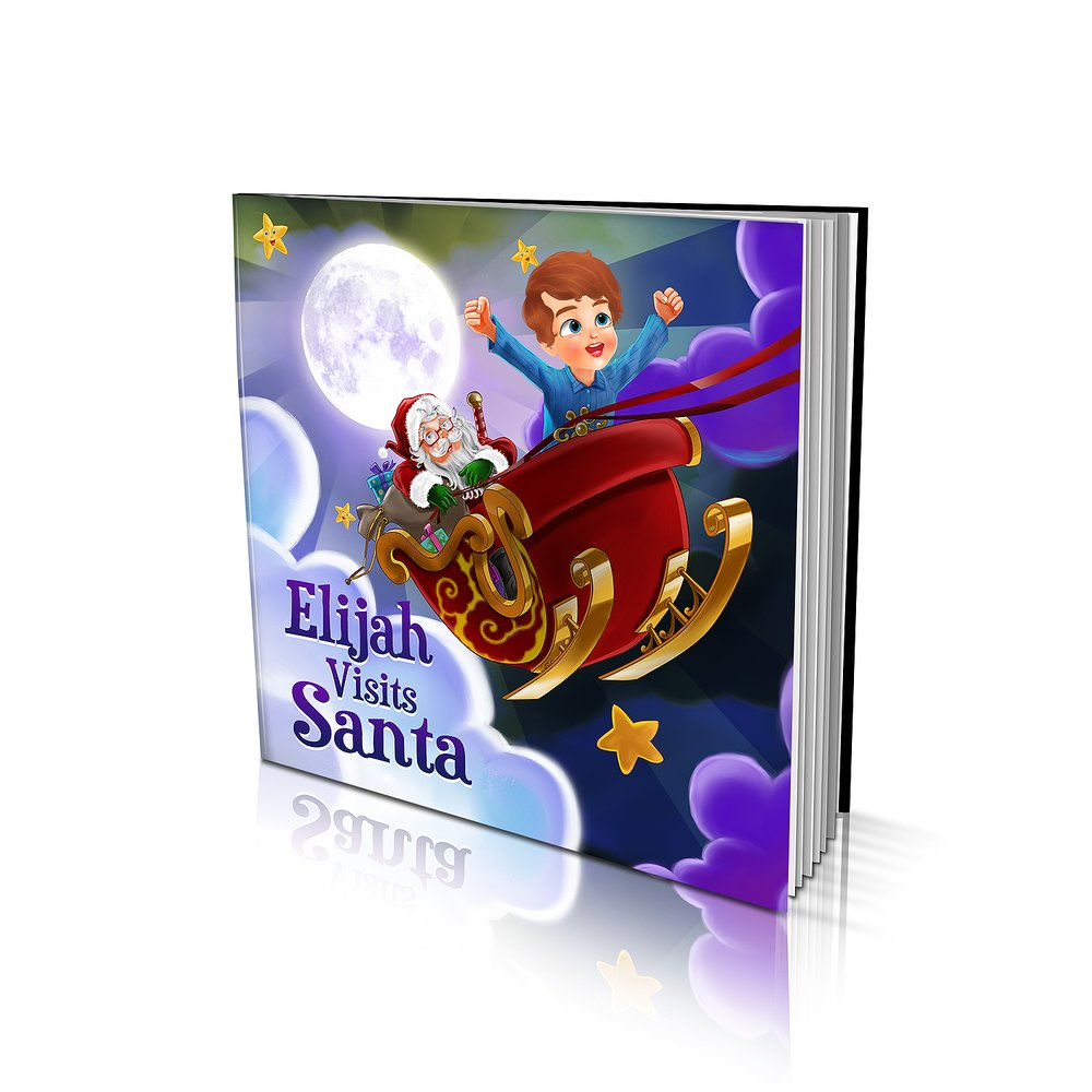 Large Soft Cover Story Book - Visiting Santa