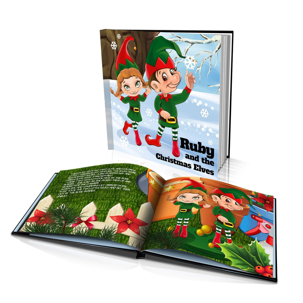 Large Hard Cover Story Book - The Christmas Elves