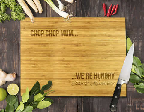 "Chop Chop Mum Bamboo Cutting Board 8x11"" (Temporary Out of Stock)"