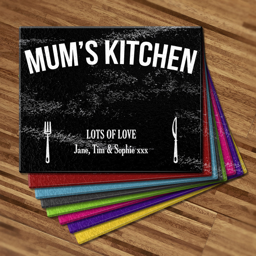 Mum's Kitchen Glass Cutting Board