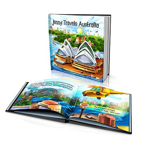 Large Hard Cover Story Book - Travels Australia