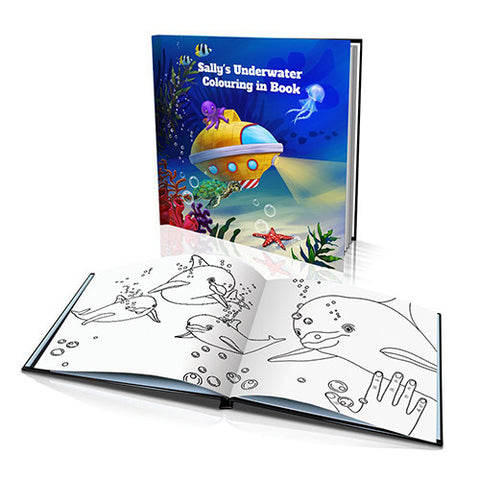 The Underwater Adventure Hard Cover Colouring Book