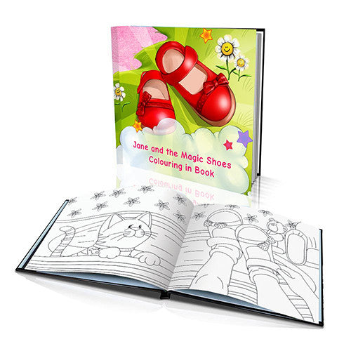 The Magic Shoes Hard Cover Colouring Book